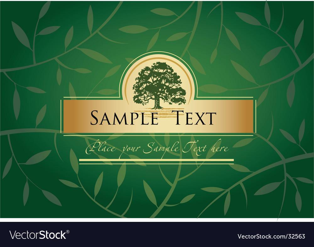 Label or menu cover vector