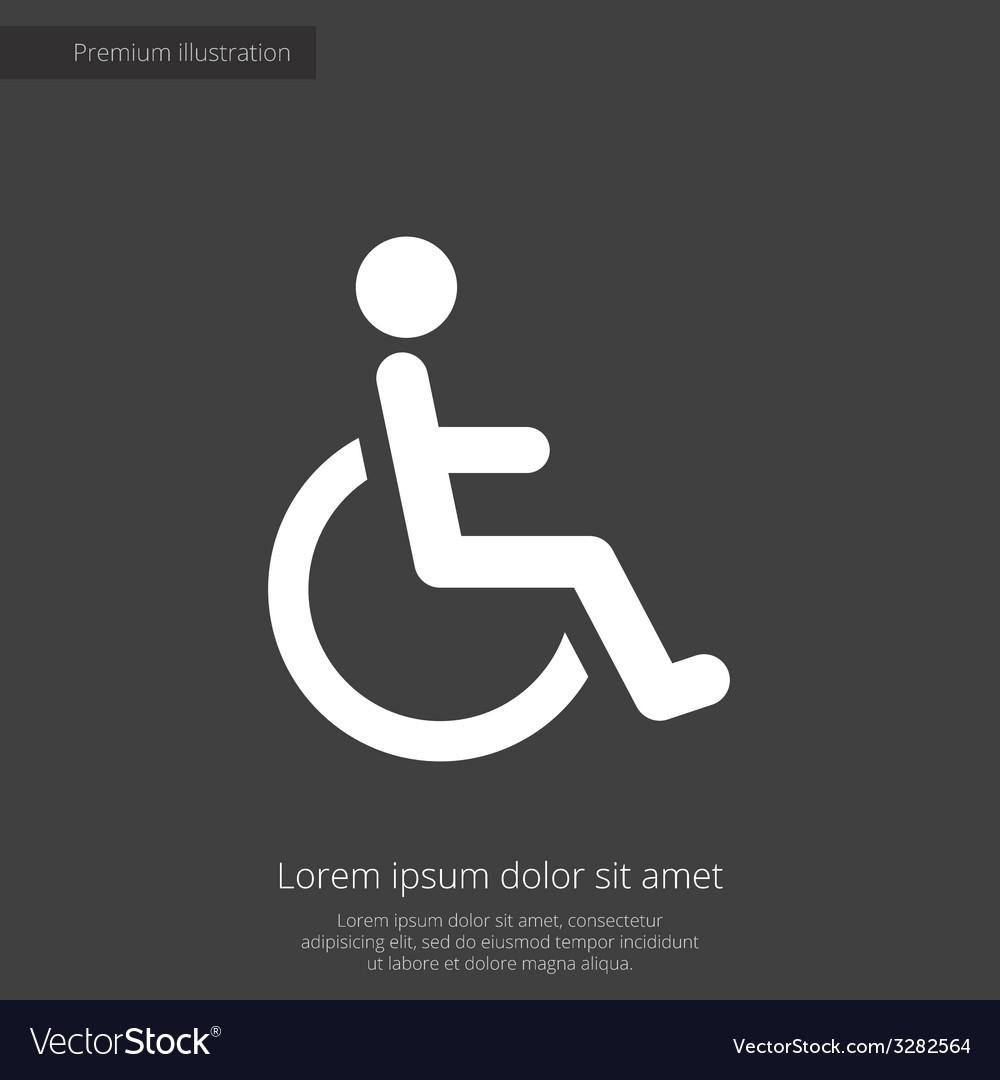 Cripple premium icon white on dark background vector