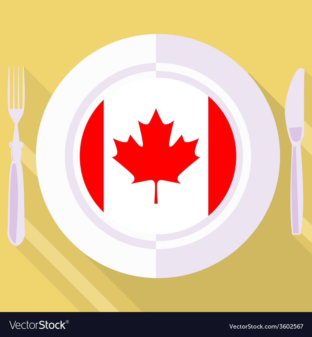 Kitchen of canada vector