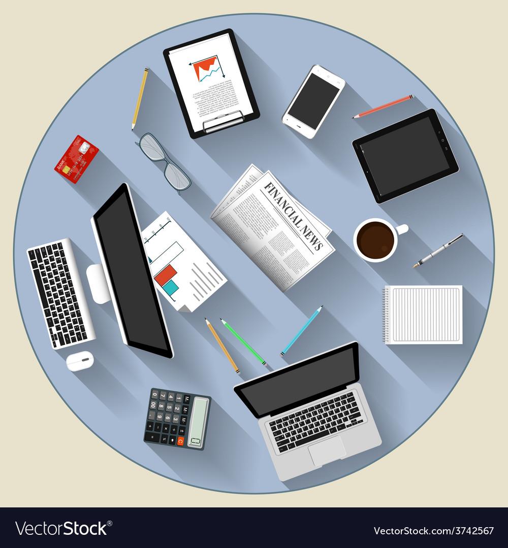 Modern flat design brainstorming and teamwork vector