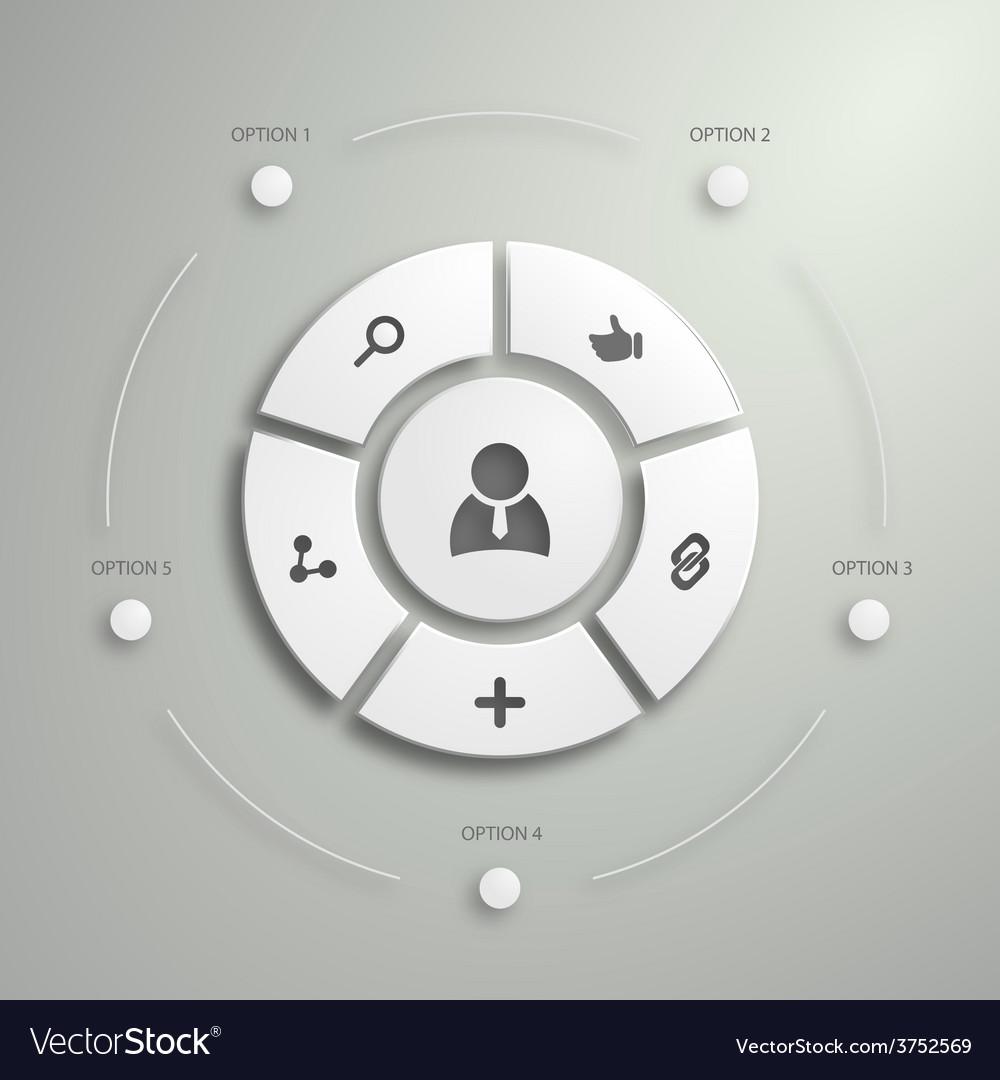 Flat mobile ui design vector