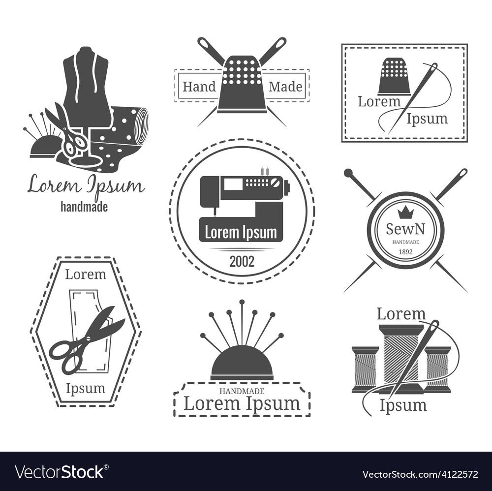 Vintage tailor logo or badges vector
