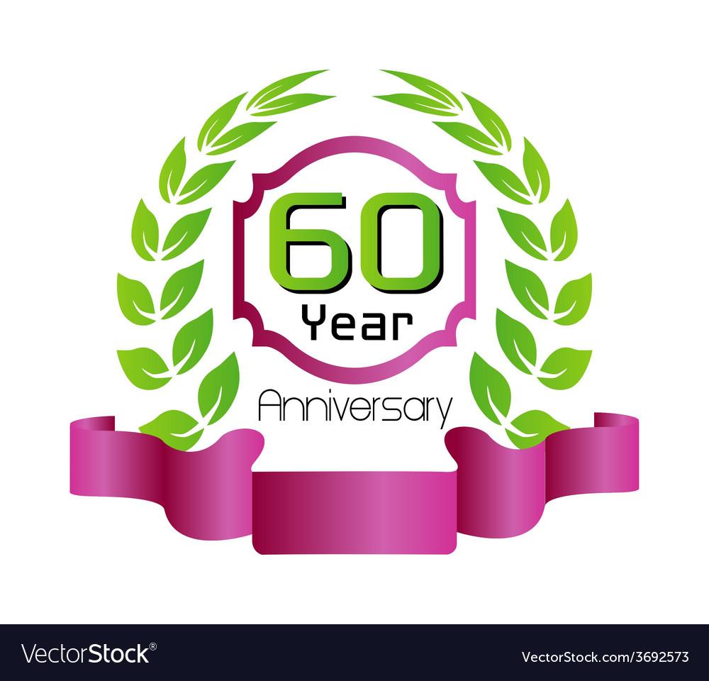60 year birthday celebration vector