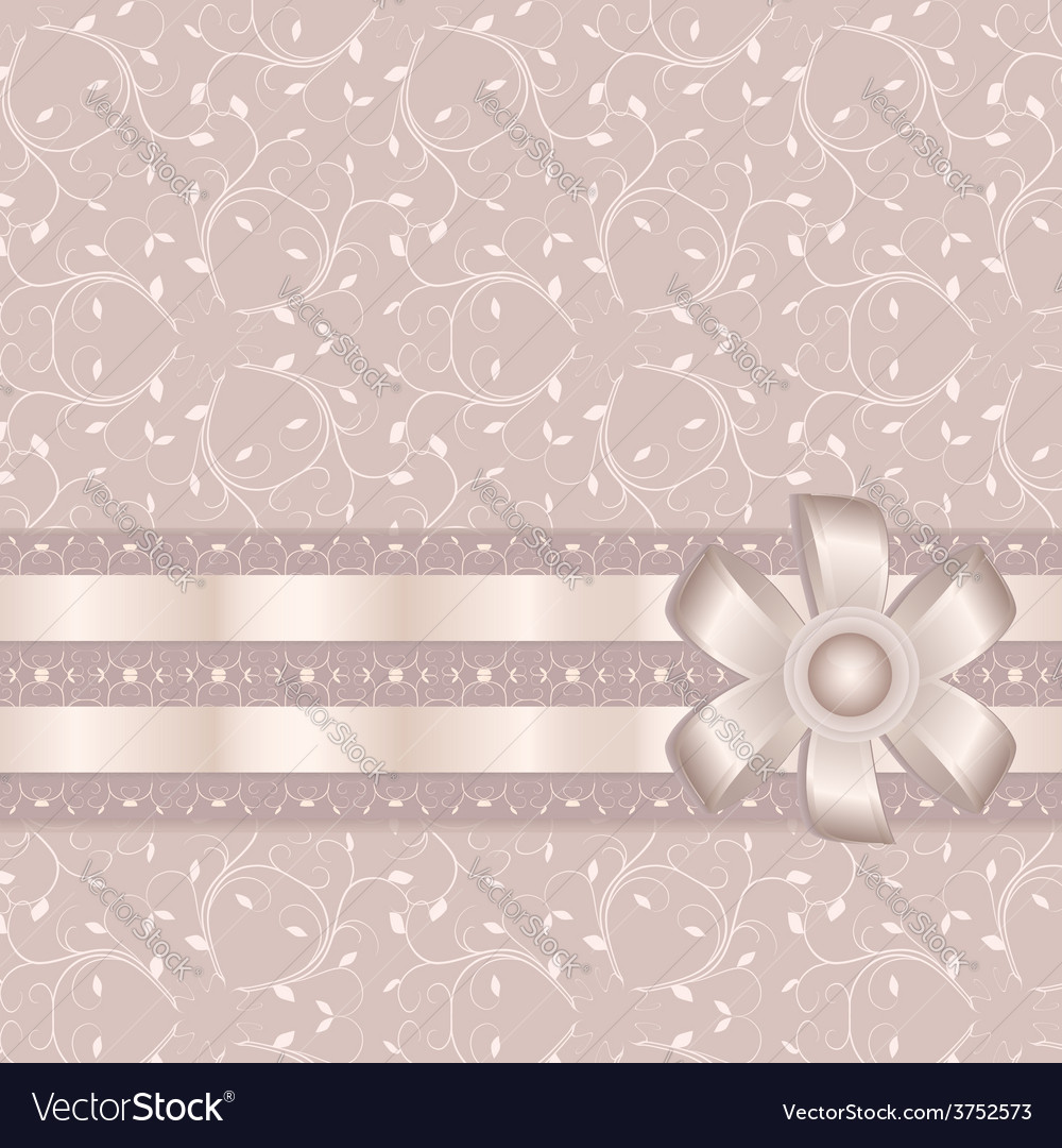 Pink greeting card vector