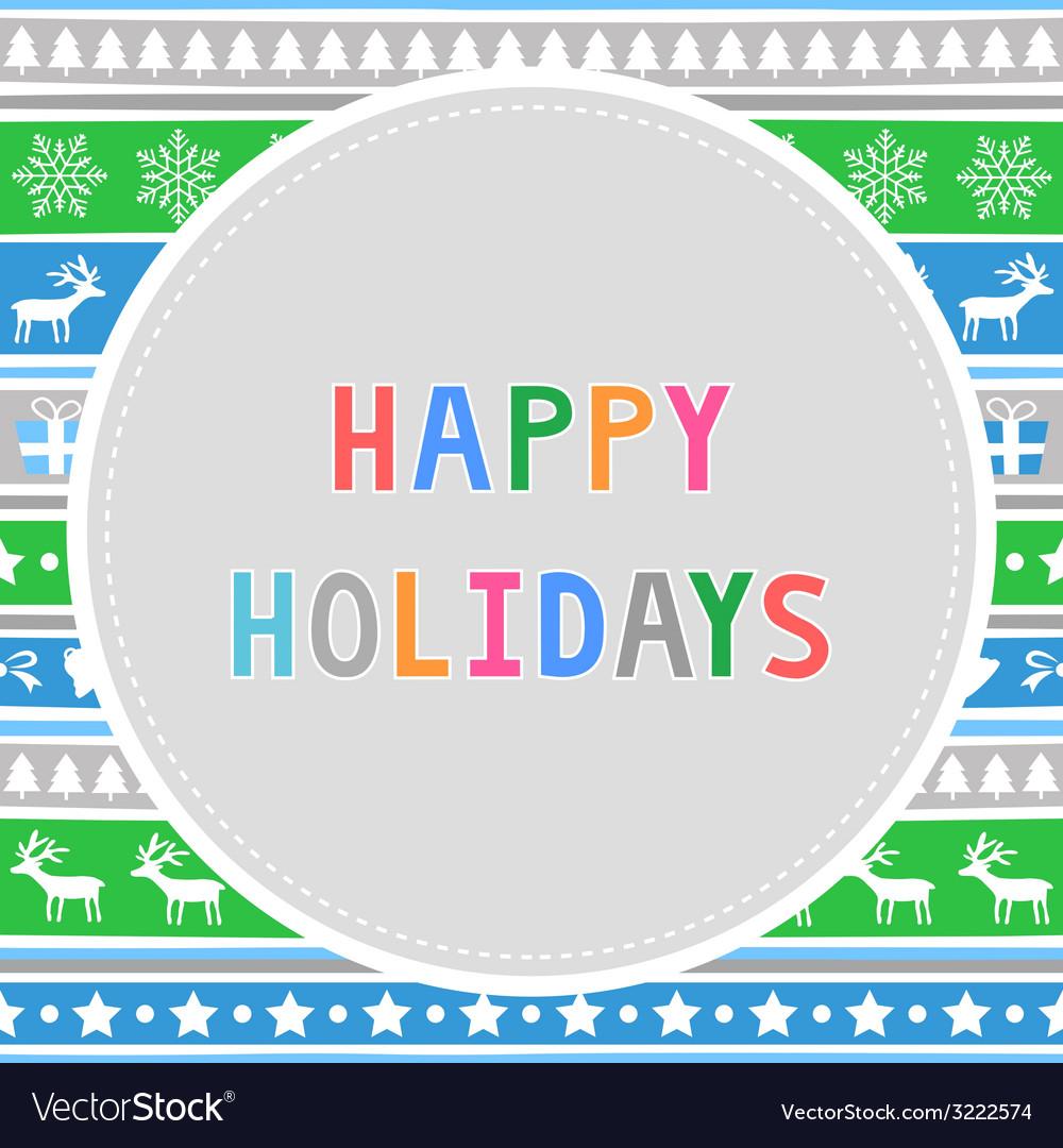 Happy holidays10 vector