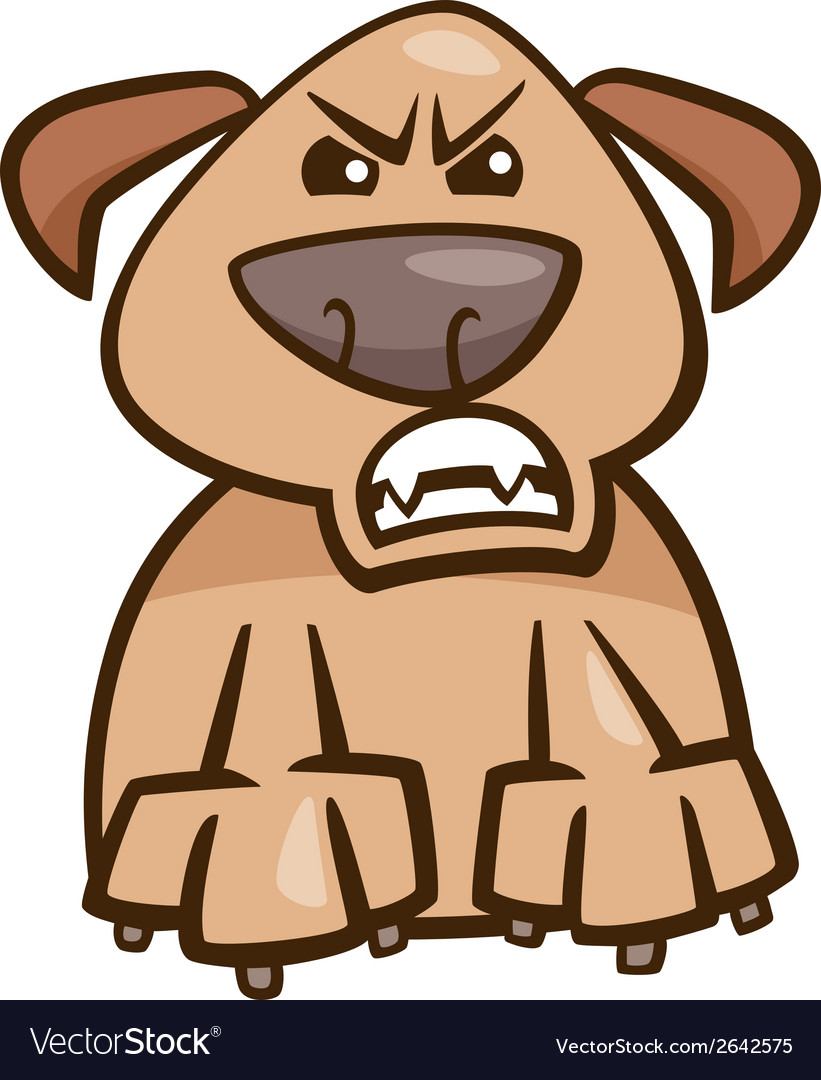 Mood furious dog cartoon vector