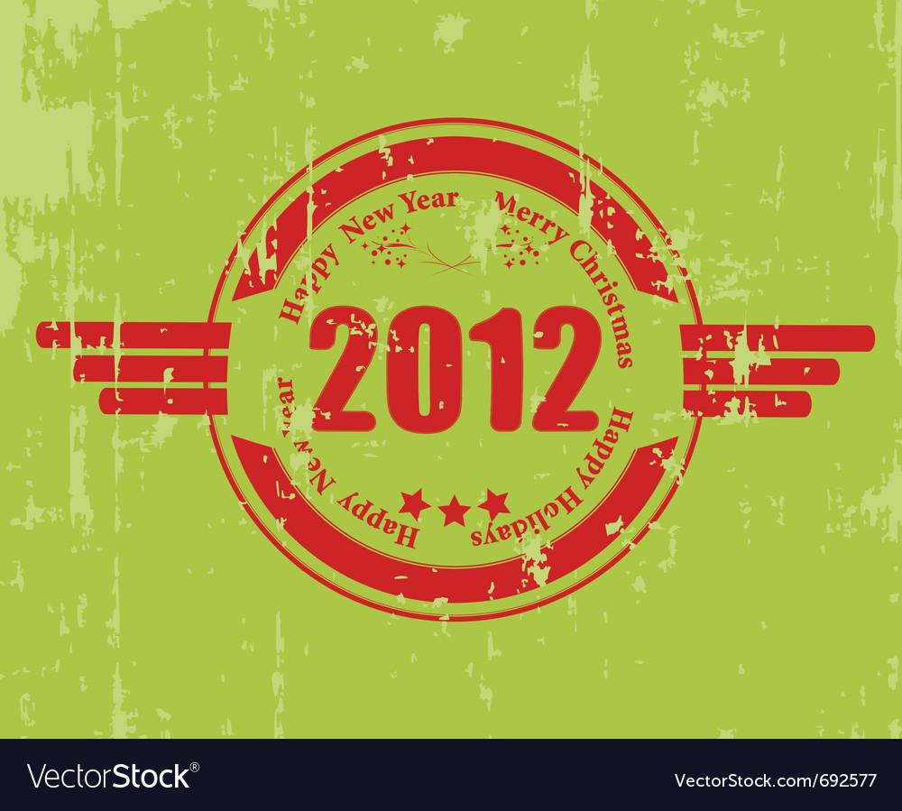 2012 celebration rubber vector
