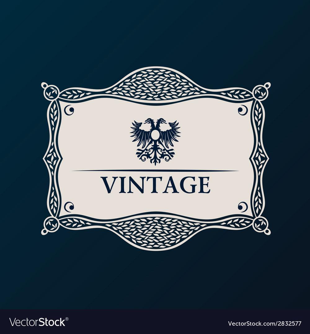 Label framework vintage tag decor vector