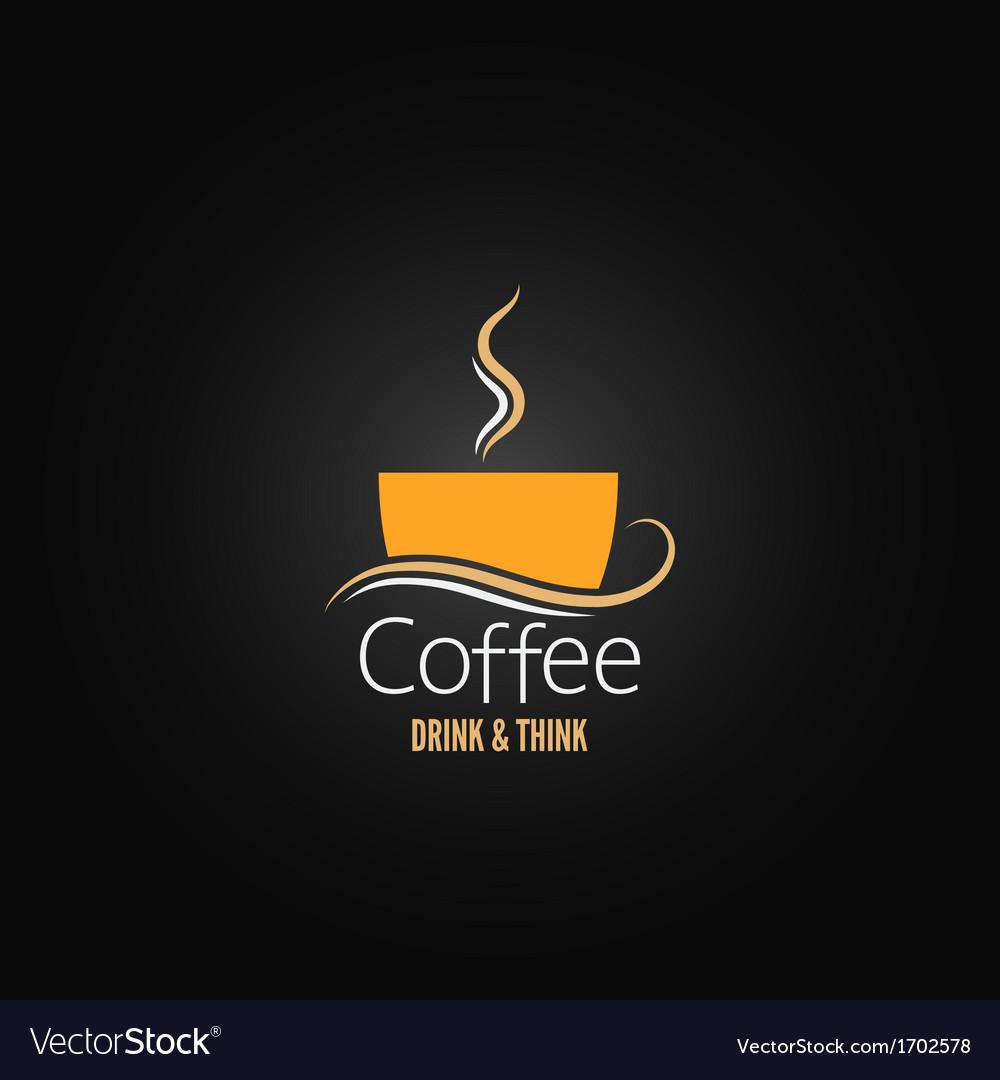Coffee cup label concept menu vector