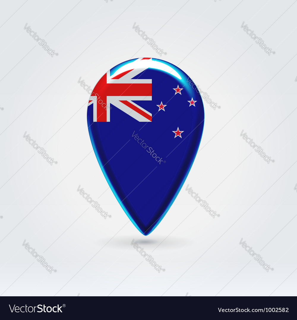 New zealand icon point for map vector