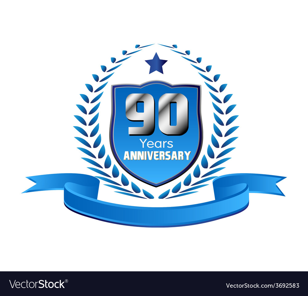 90 year birthday celebration vector