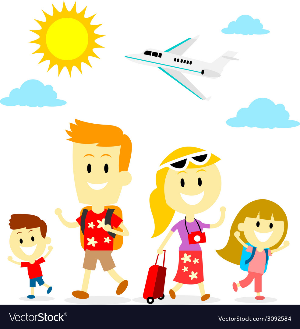 Family trip vector