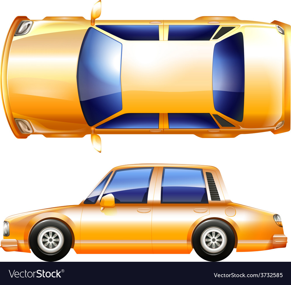 A yellow vehicle vector