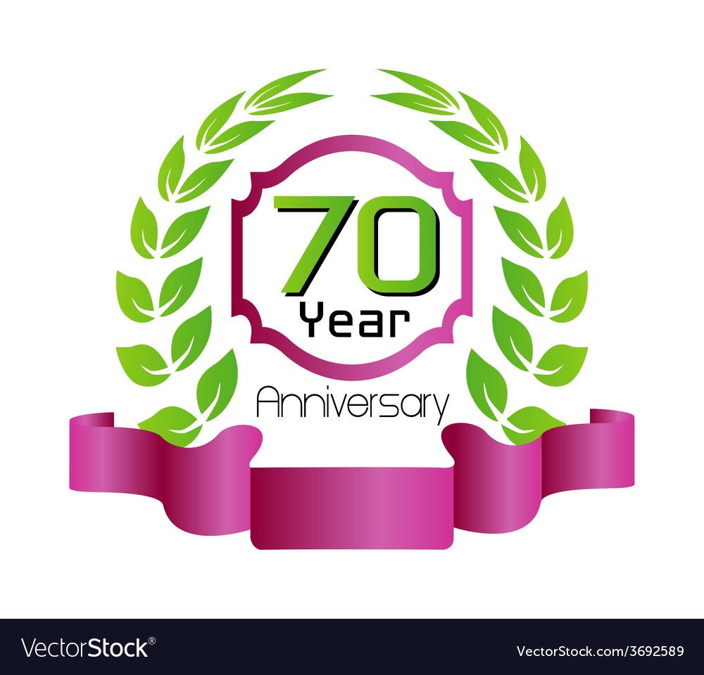 70 year birthday celebration vector