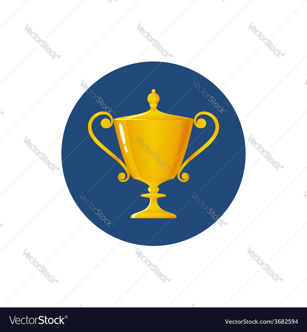 Icon cup of winner vector