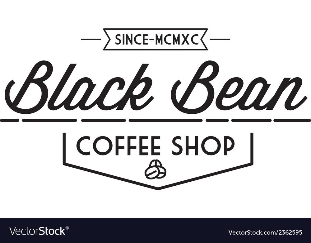 Vintage coffee logo vector