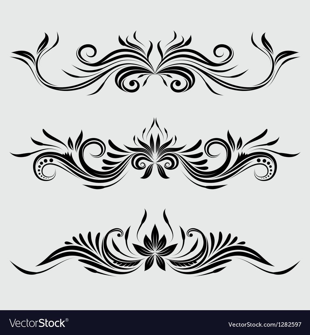 Decorative swirl ornamental vector