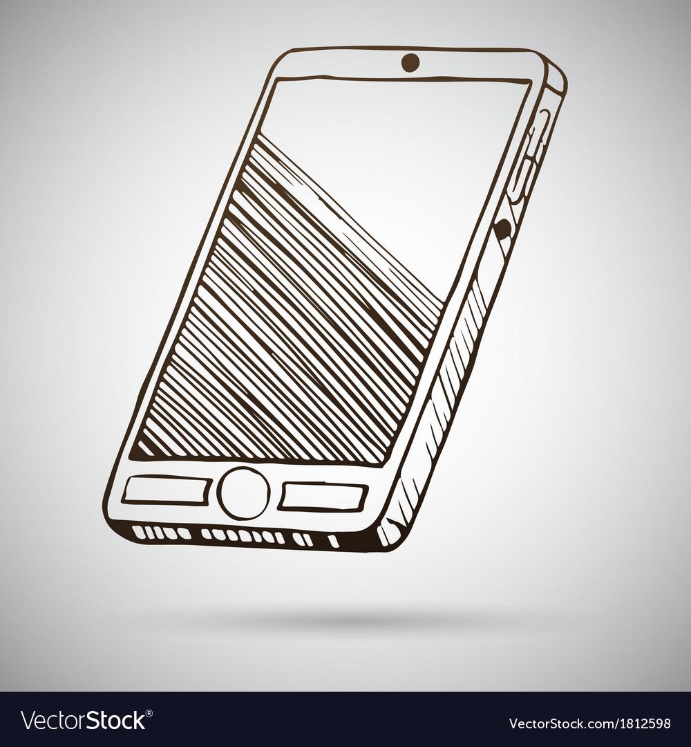 Smartphone sketch vector