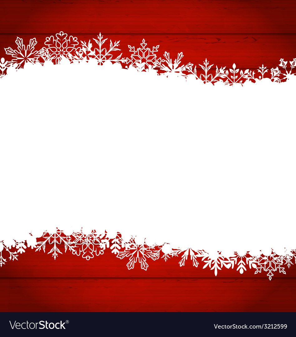 Christmas frame made of snowflakes with copy space vector