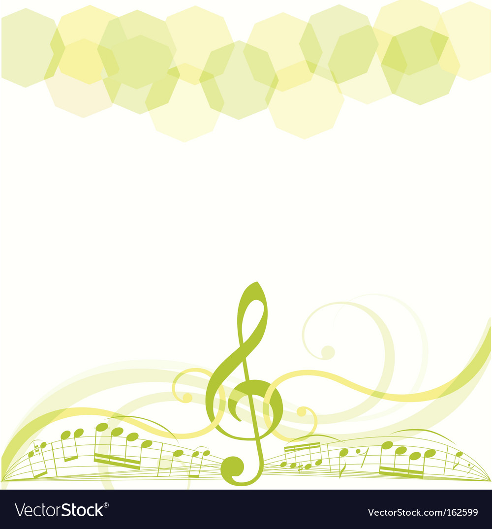 Music copy space vector