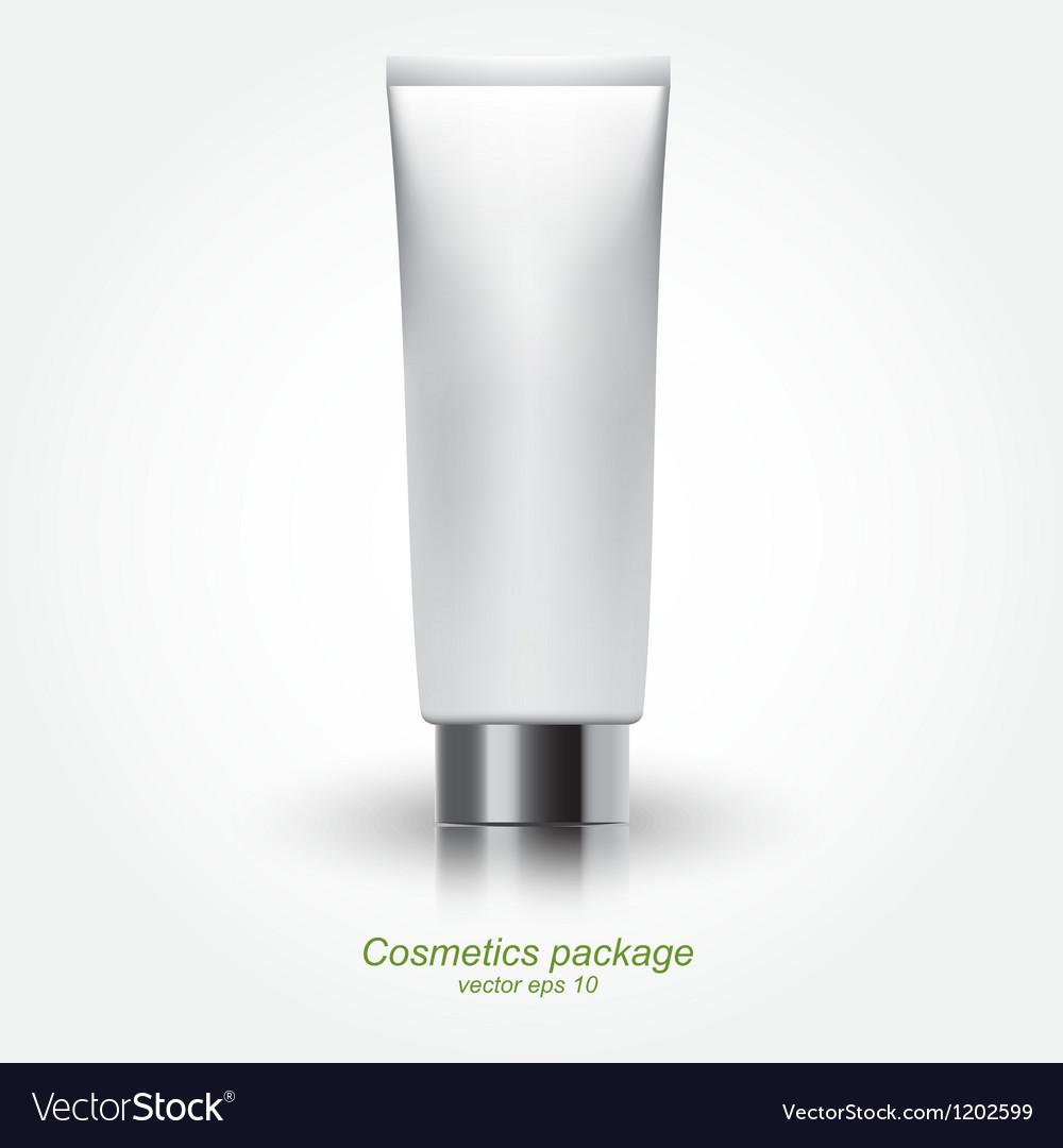 Tube of cream vector