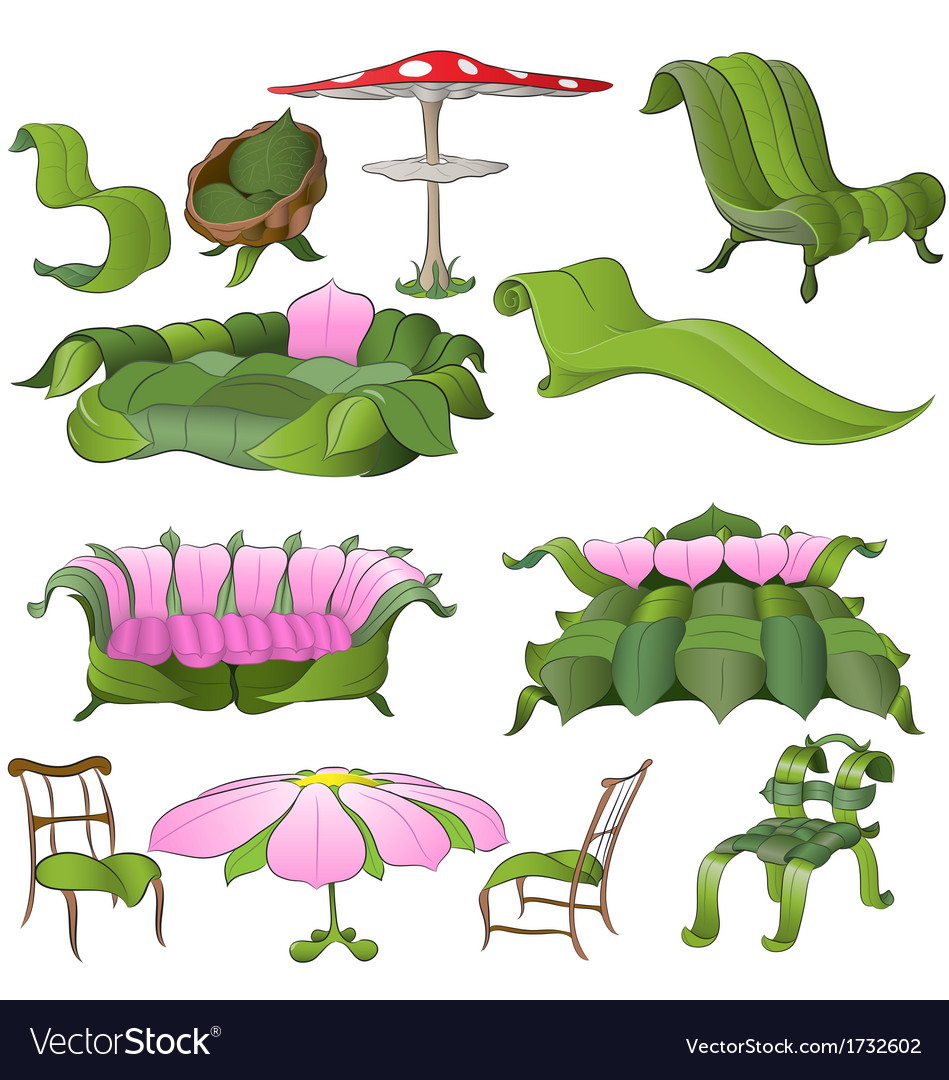 Fantasy furniture vector