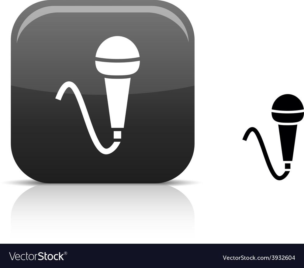 Mic icon vector