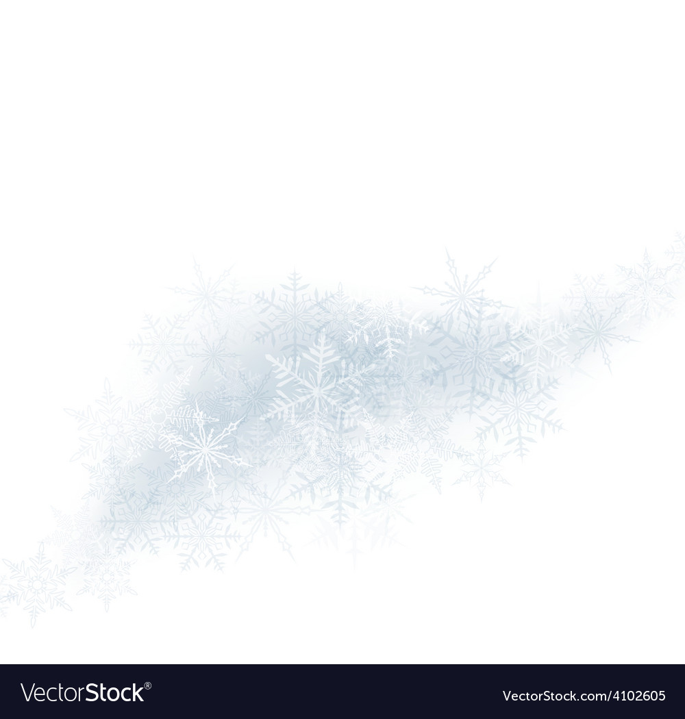 Christmas background with crystallic snowflakes vector