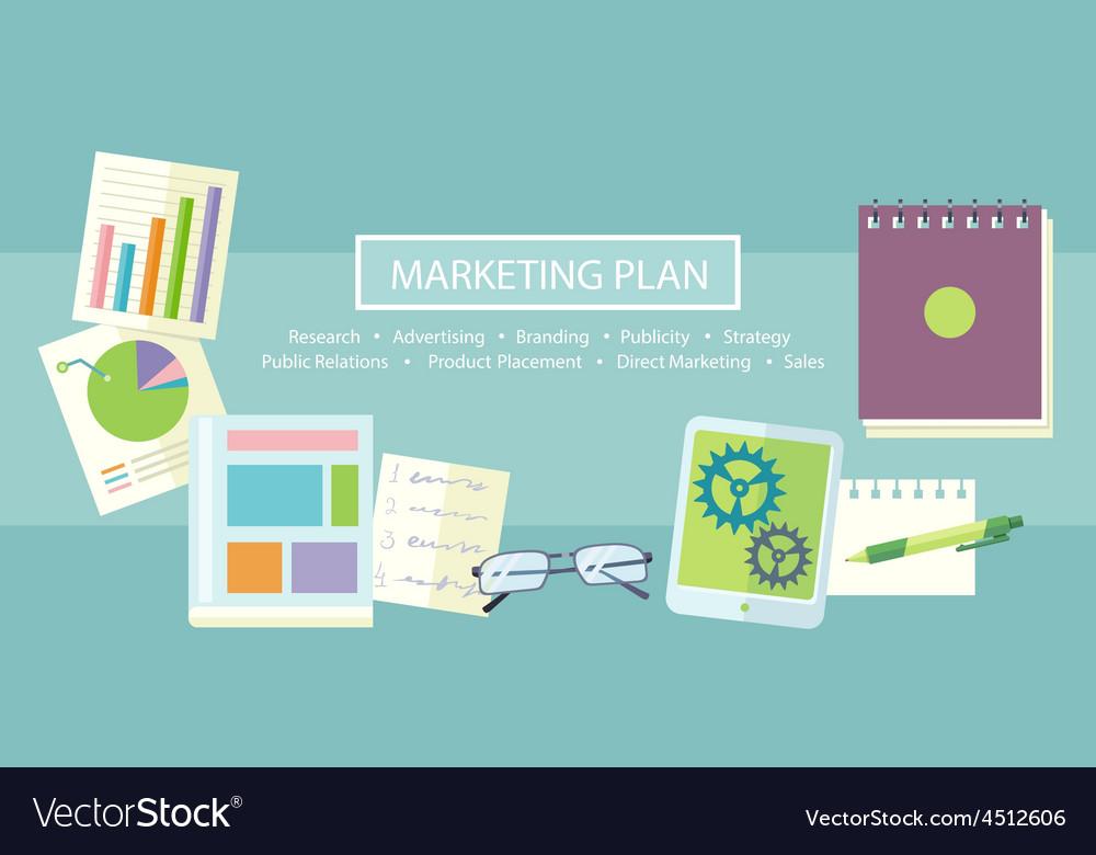 Marketing plan concept vector