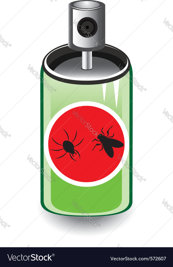 Insect spray vector