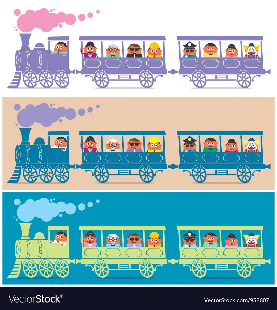 Steam train driver vector