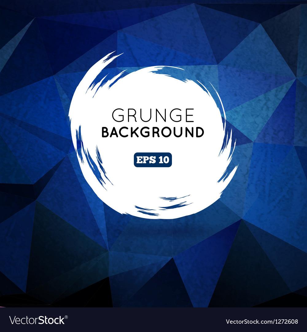 Grunge blue background with splash banner vector