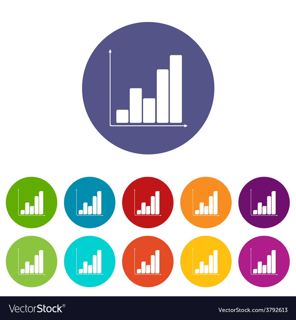 Chart flat icon vector