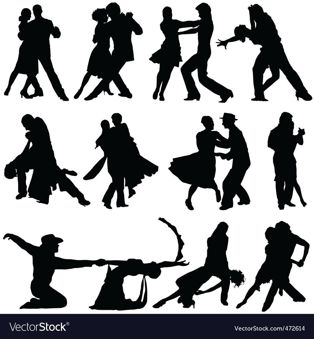 Romantic dance vector