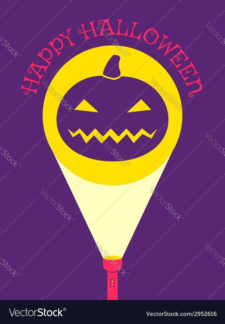 Flashlight pumpkin vector