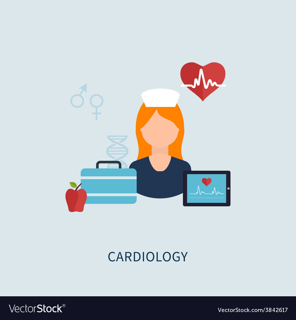 Cardiology design icons vector