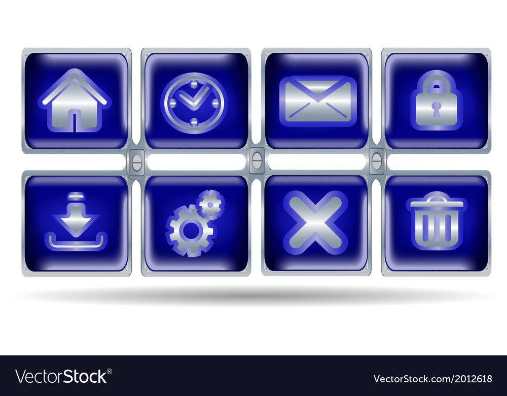 Button icons for website vector