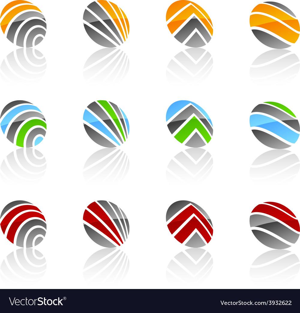 Abstract symbols vector