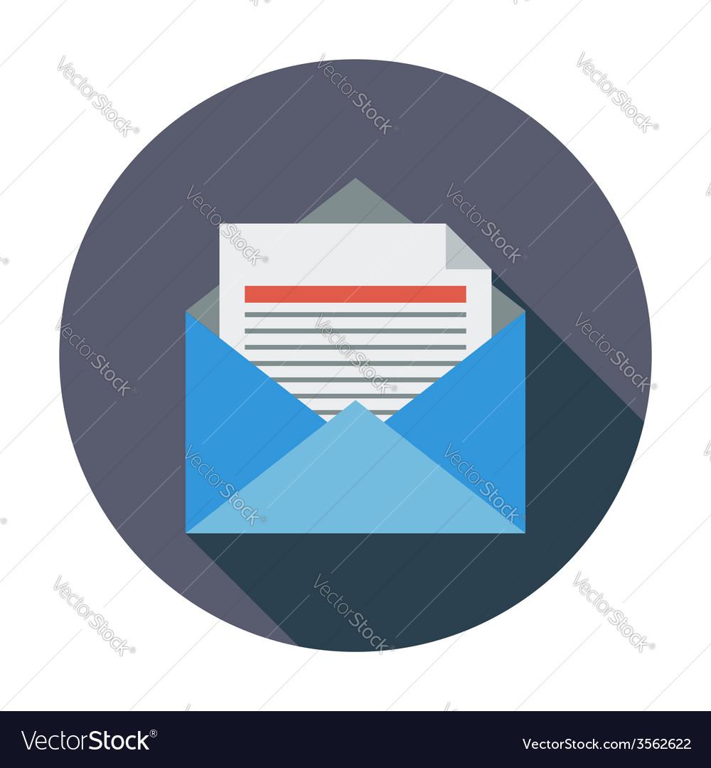 Envelope flat icon vector