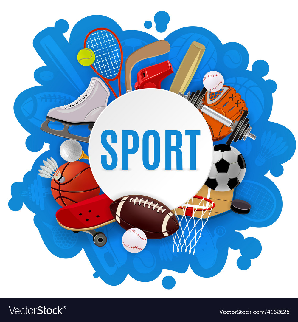 Sport equipment concept vector
