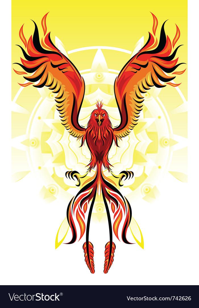 Phoenix flame bird vector