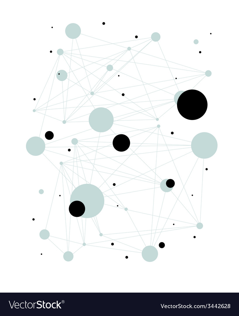 Connections abstract background vector