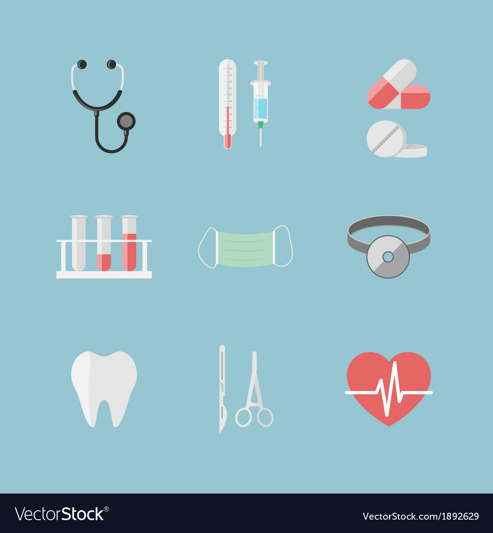 Health care pictograms for hospital website vector