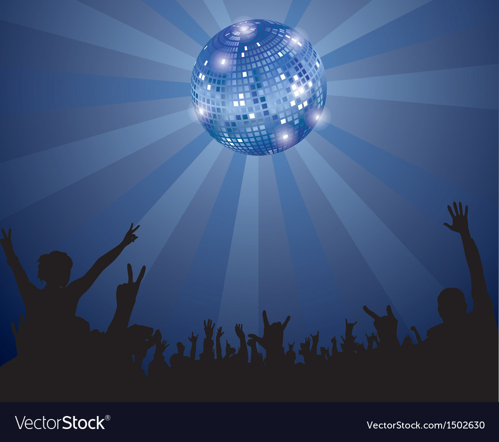 Night club crowd vector