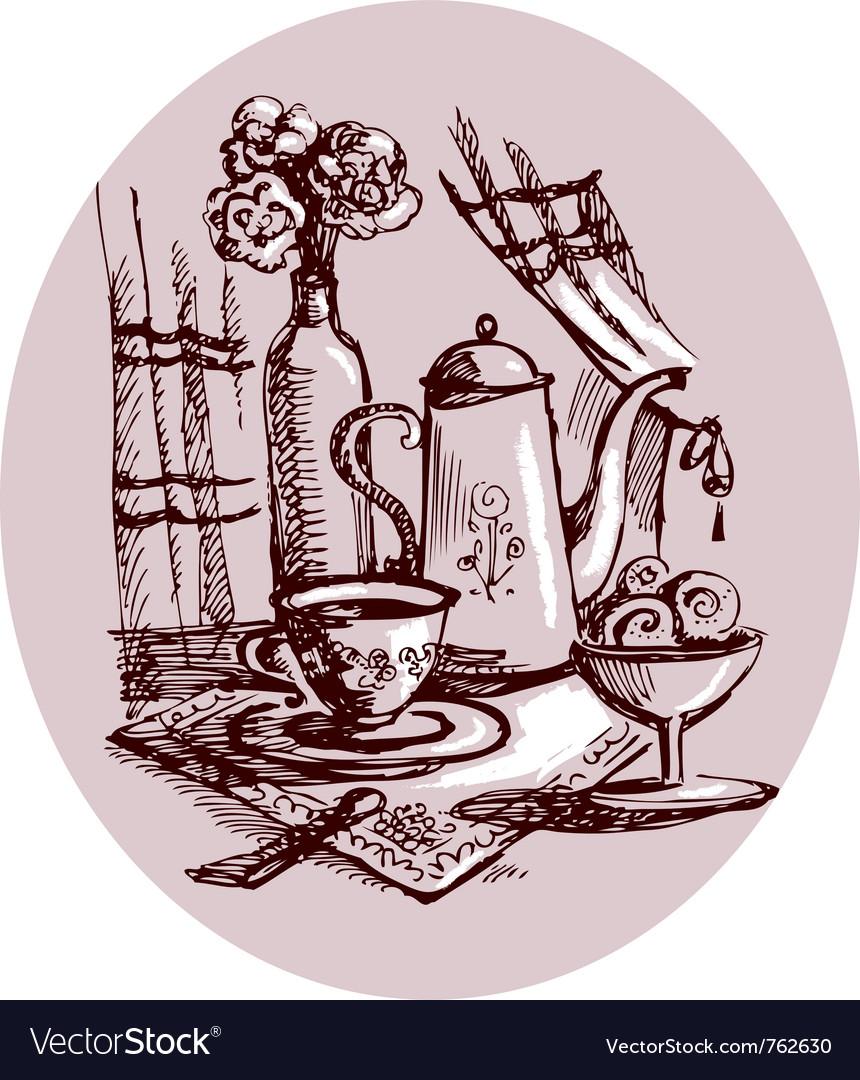 Still-life sketch vector
