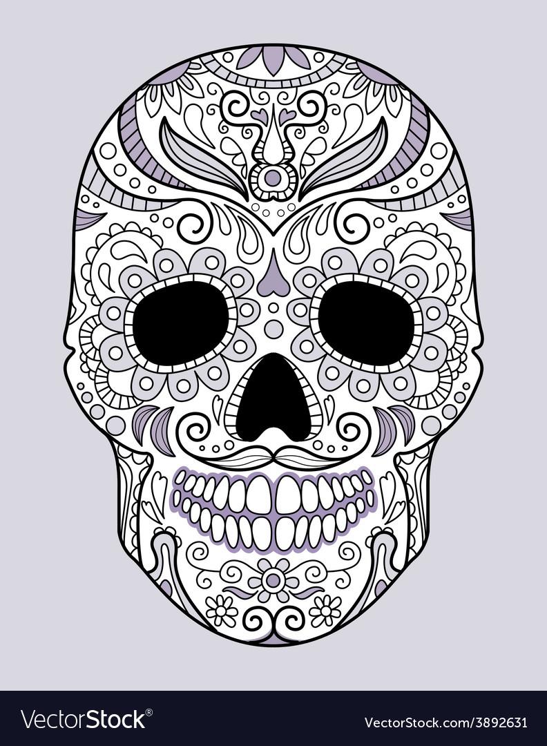 Skull in different monograms original design vector
