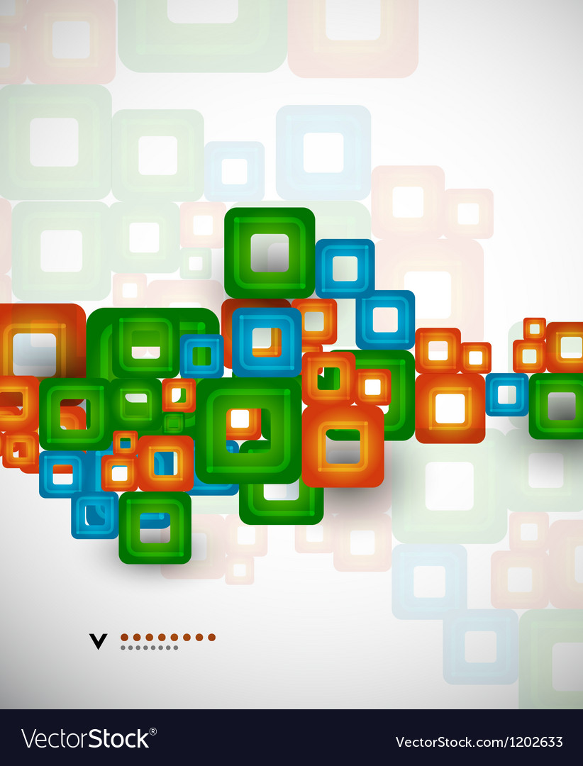 Colorful squares abstract design template vector