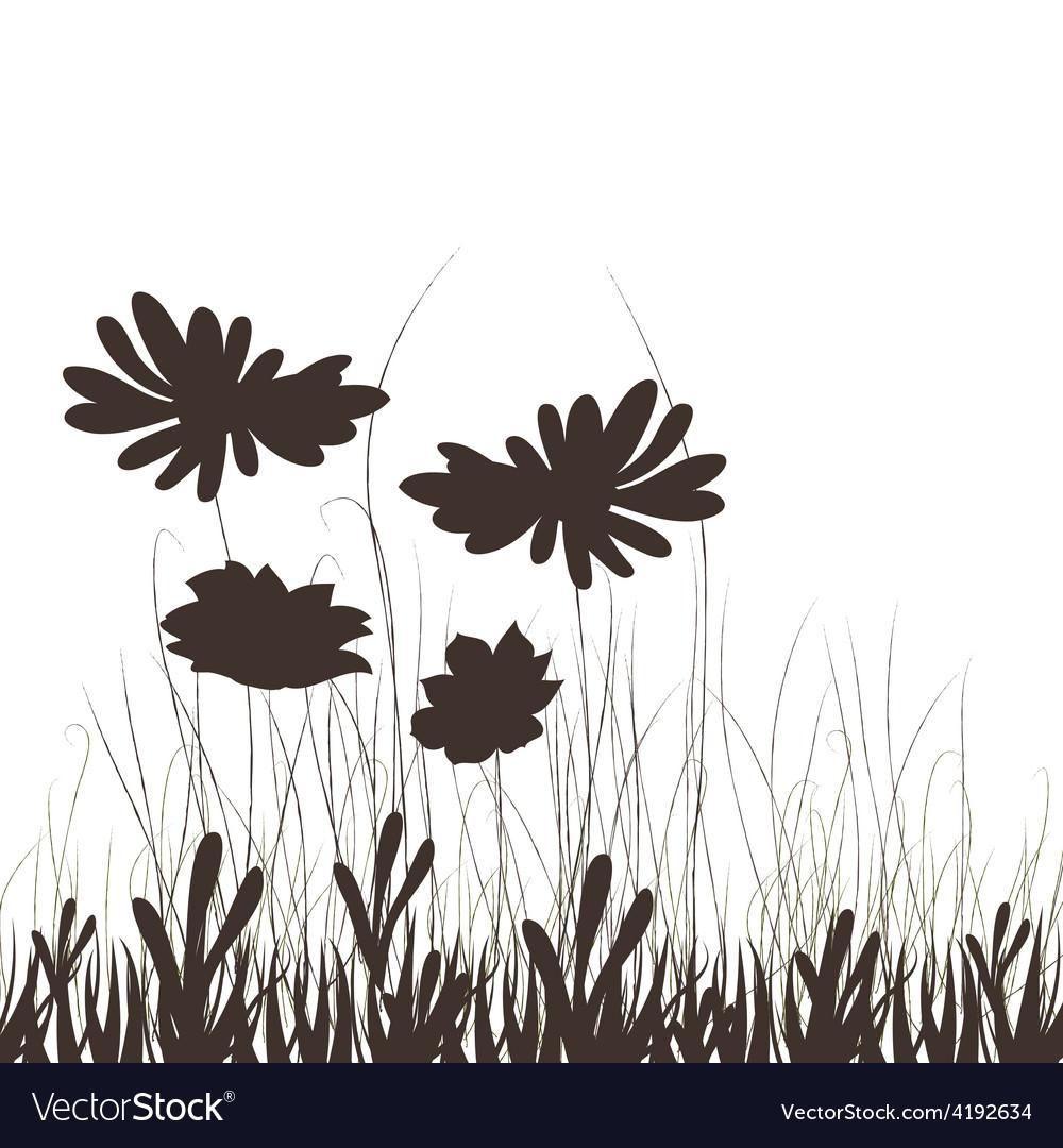 Meadow plants vector