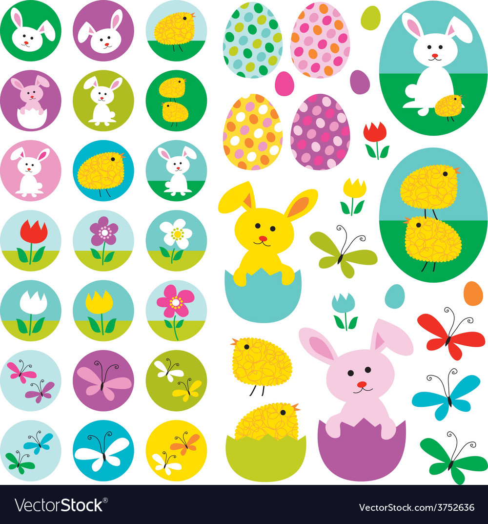 Easter clipart vector
