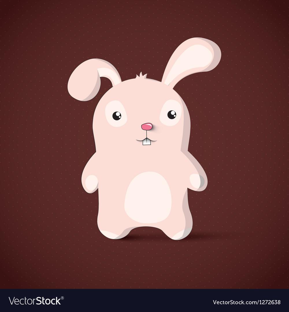 Bunny easter card design vector